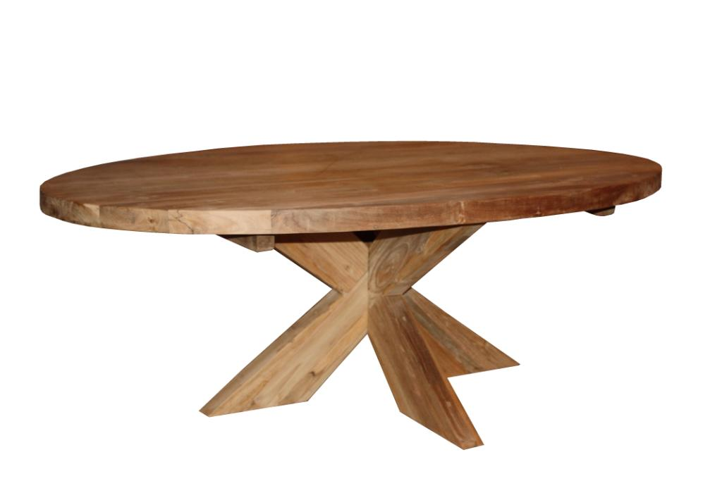 Oval Coffee Table With Cross Legs 130x80 Cm Blnk Coffeetables Sidetables Henk Schram