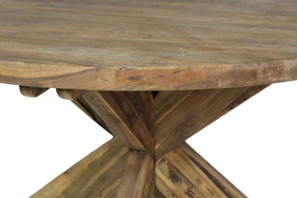 tisch rund mit kreuzbein 150x150 cm vintage tischen tischblatten henk schram meubelen. Black Bedroom Furniture Sets. Home Design Ideas