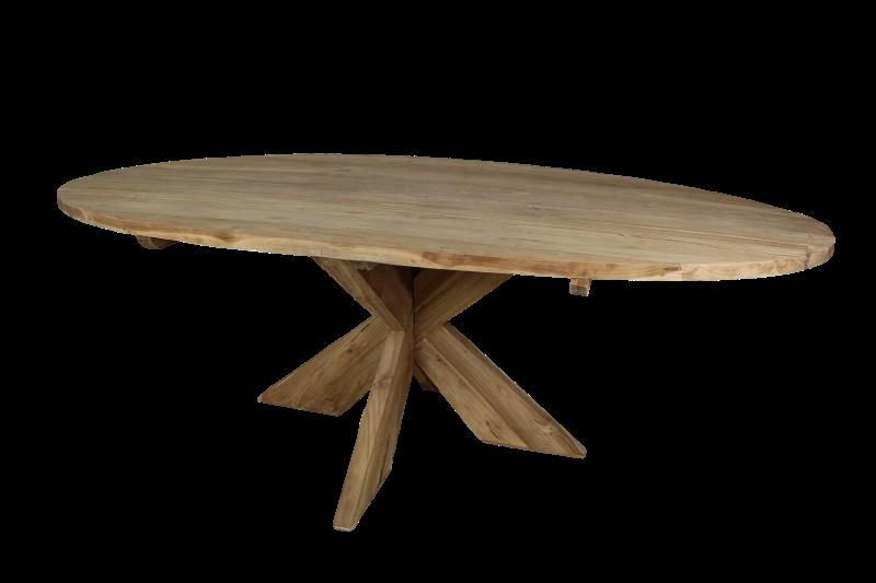 tisch cross oval 240x120 cm holz tischen tischblatten henk schram meubelen. Black Bedroom Furniture Sets. Home Design Ideas