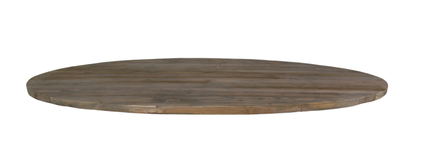Table Top Oval   180x100 Cm   Grey Wash   Teak ...