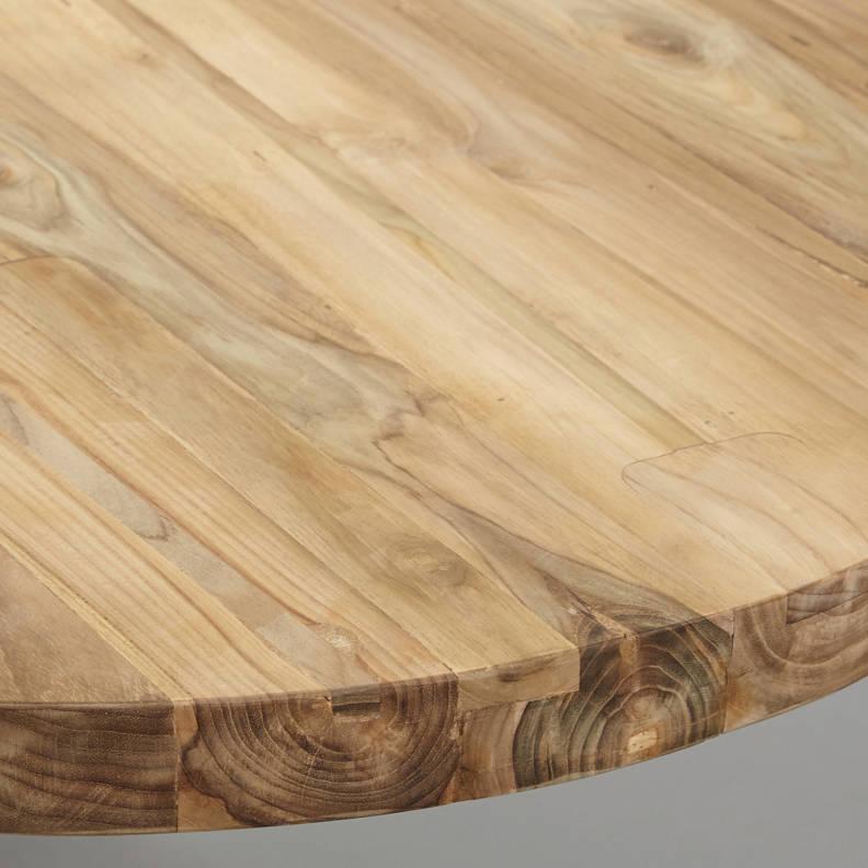 Tafelblad ovaal - 240x120 cm - blank - teak