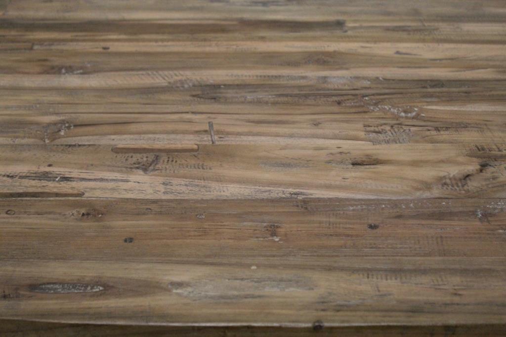 Tafelblad ovaal - 240x120 cm - vintage - teak