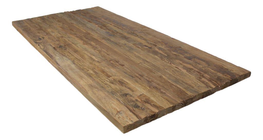 Tischplatte holz natur  Tischplatte aus rustikal altes holz - 180x90 cm - natur - Tische ...