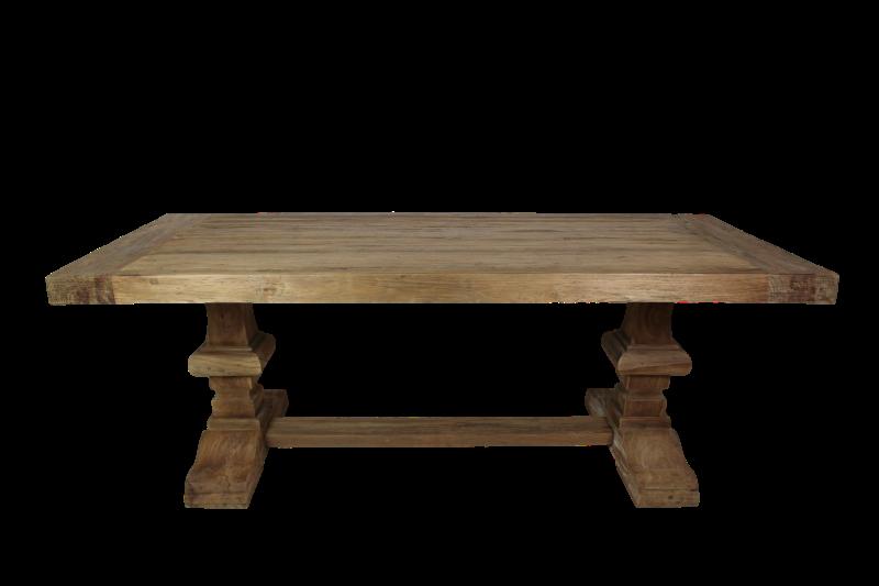 Eettafel Castle - 300x100 cm - dingklik teak - oud teak