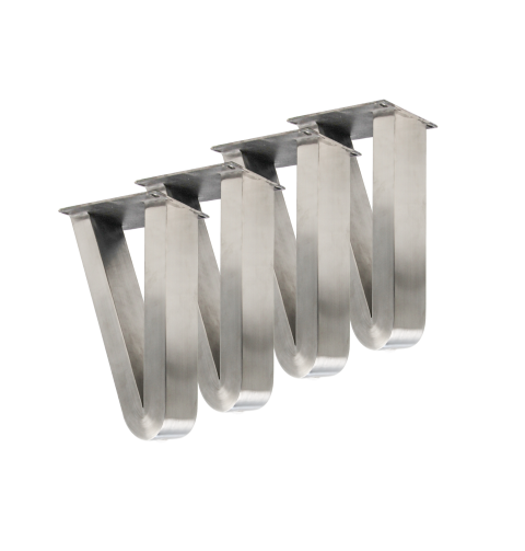 Coffee Table Legs V Model Brushed Stainless Steel Set Of 4