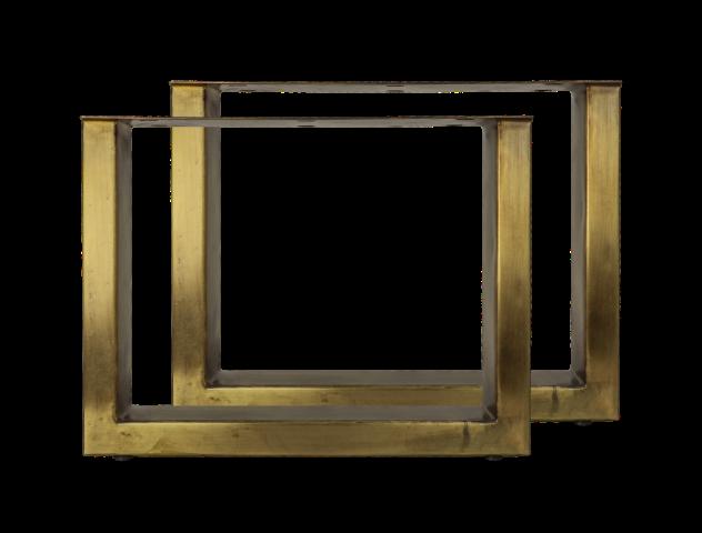 Coffee Table Legs U Model Antique Gold Metal Table