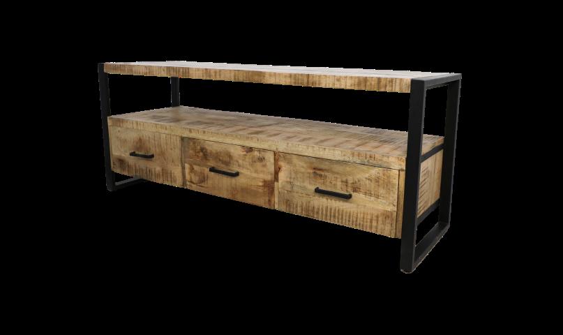 3 Drawers Mango Wood Iron