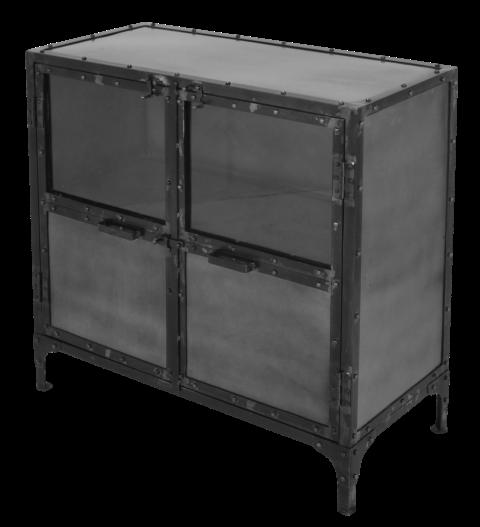 Kommode brooklyn eisen glas stahl farbe schranken for Kommode 90 x 40