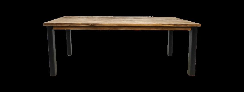 Dining Table Atlanta 240x100 Cm Rustic Old Teak Metal Tables Table Tops Henk Schram Meubelen