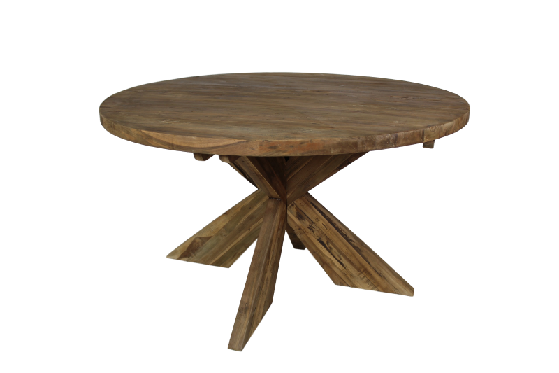 Round Dining Table Cross O130 Cm Vintage Teak Tables Table Tops Henk Schram Meubelen