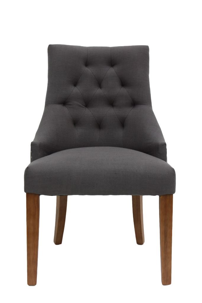Stoel royal met greep lichtgrijs linnen stoelen banken henk schram meubelen - Linnen stoel ...