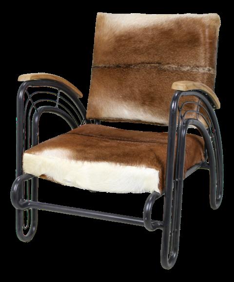 lounge sessel ziegenfell schwarz metall st hlen. Black Bedroom Furniture Sets. Home Design Ideas