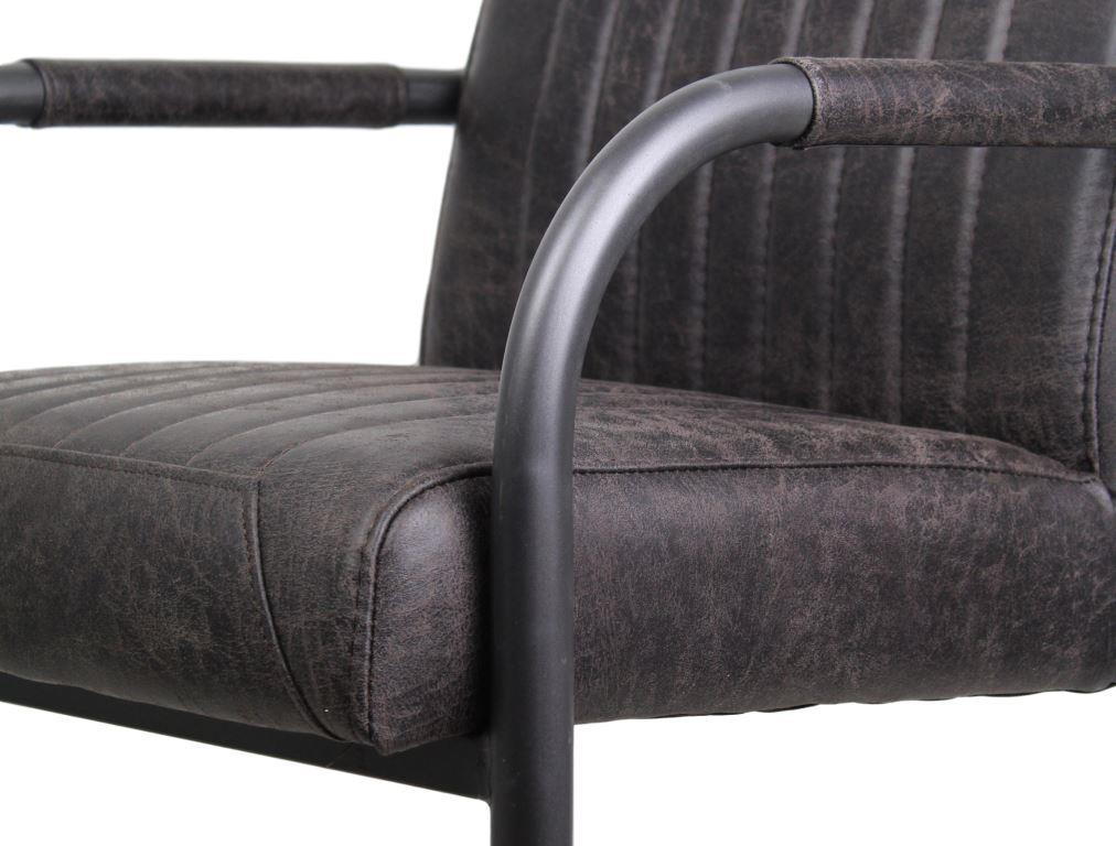 armlehnstuhl nevada yacht espresso metall yachtleder st hlen sofas henk schram meubelen. Black Bedroom Furniture Sets. Home Design Ideas