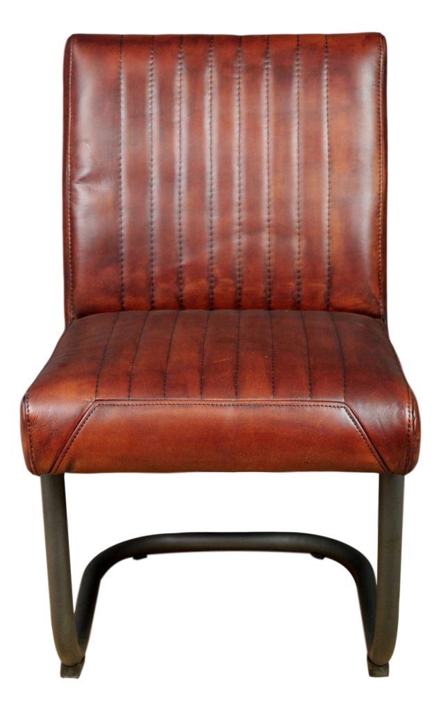 Chair Nevada   Buffalo Cognac   Metal/buffalo Leather ...