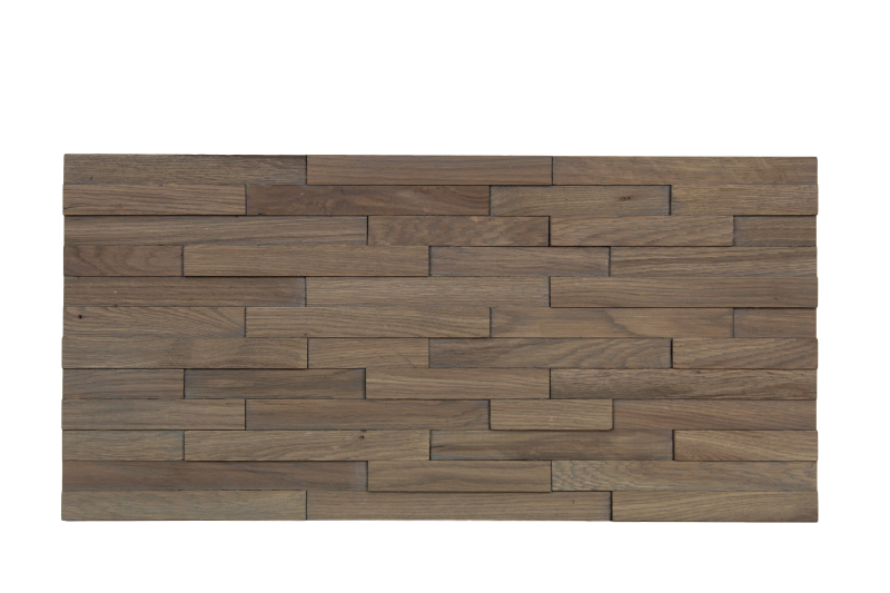 Wandpaneel 3D - savanne grijs - massief eiken - s/6 (1.11m2)