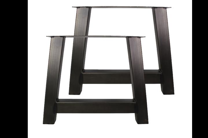 2er set tischbeine a modell pulverbeschichtet schwarz metall tischbeinen. Black Bedroom Furniture Sets. Home Design Ideas