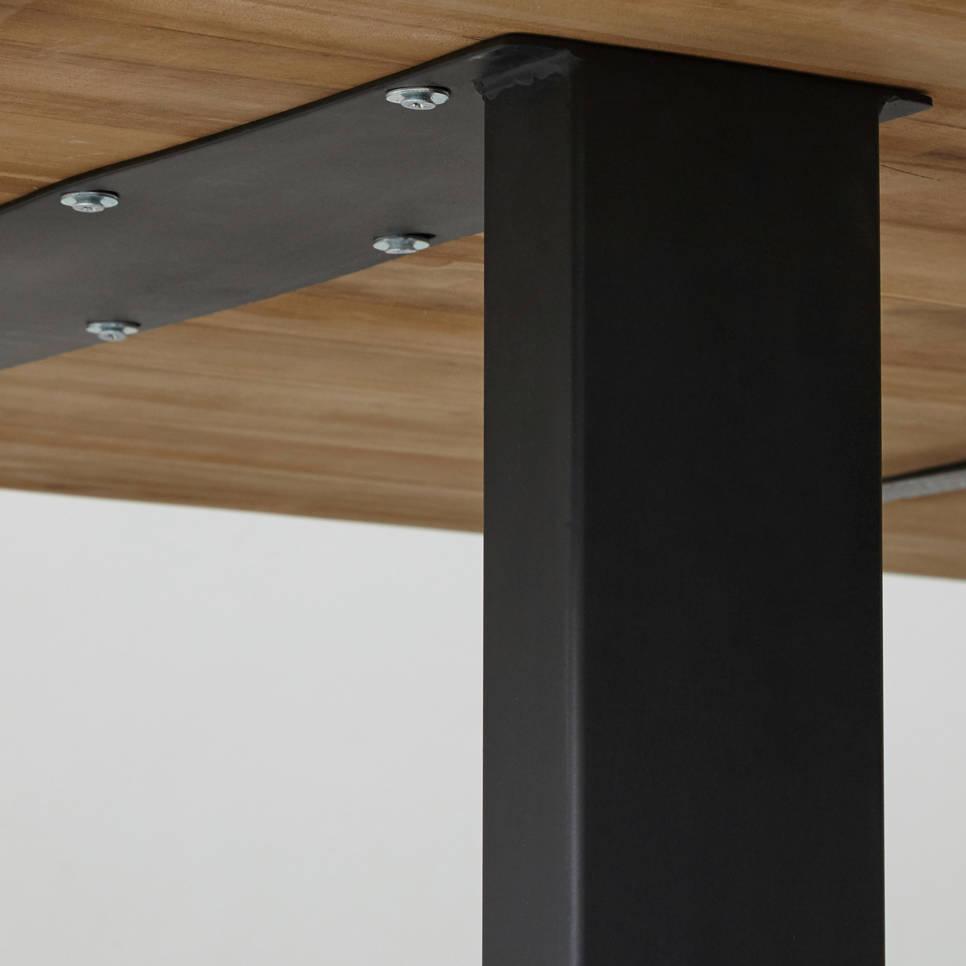tafelpoten u model powdercoated black metaal s 2 tafelpoten onderstellen henk. Black Bedroom Furniture Sets. Home Design Ideas