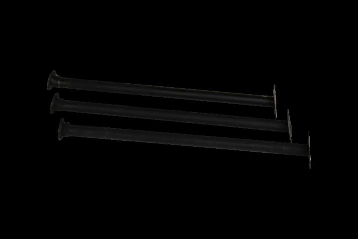 Beste Bijzettafelpoten - 40 cm - zwart - ijzer - S/3 - Tafelpoten SG-42