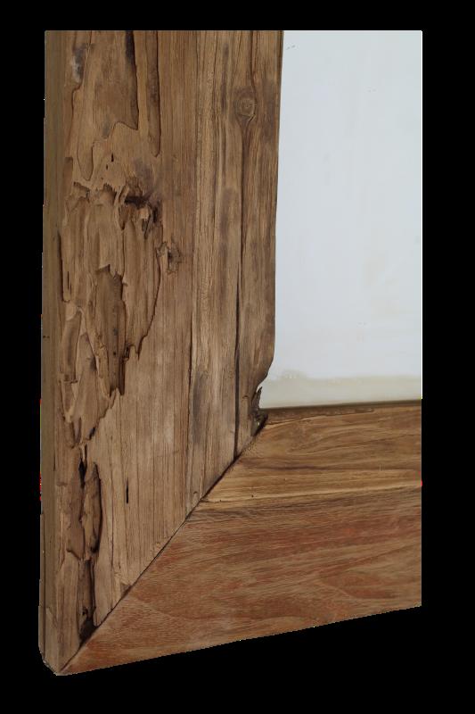 Bekend Spiegel Rustiek - 120x80 cm - blank - drijfhout teak - Spiegels MZ35