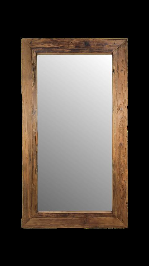 Genoeg Spiegel Rustiek - 120x80 cm - blank - drijfhout teak - Spiegels IK84