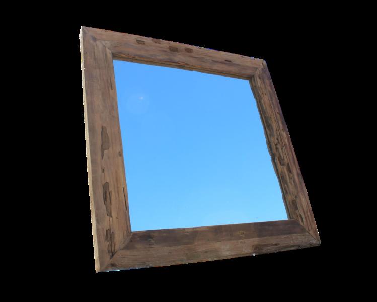 Spiegel Silikon Transparent : spiegel rustiek 80x80 cm blank drijfhout teak ~ Michelbontemps.com Haus und Dekorationen