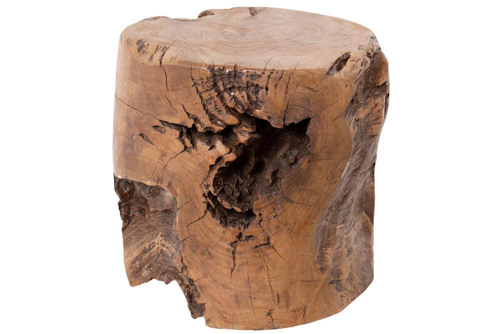 Kruk Block - ø30 cm - blank - teak