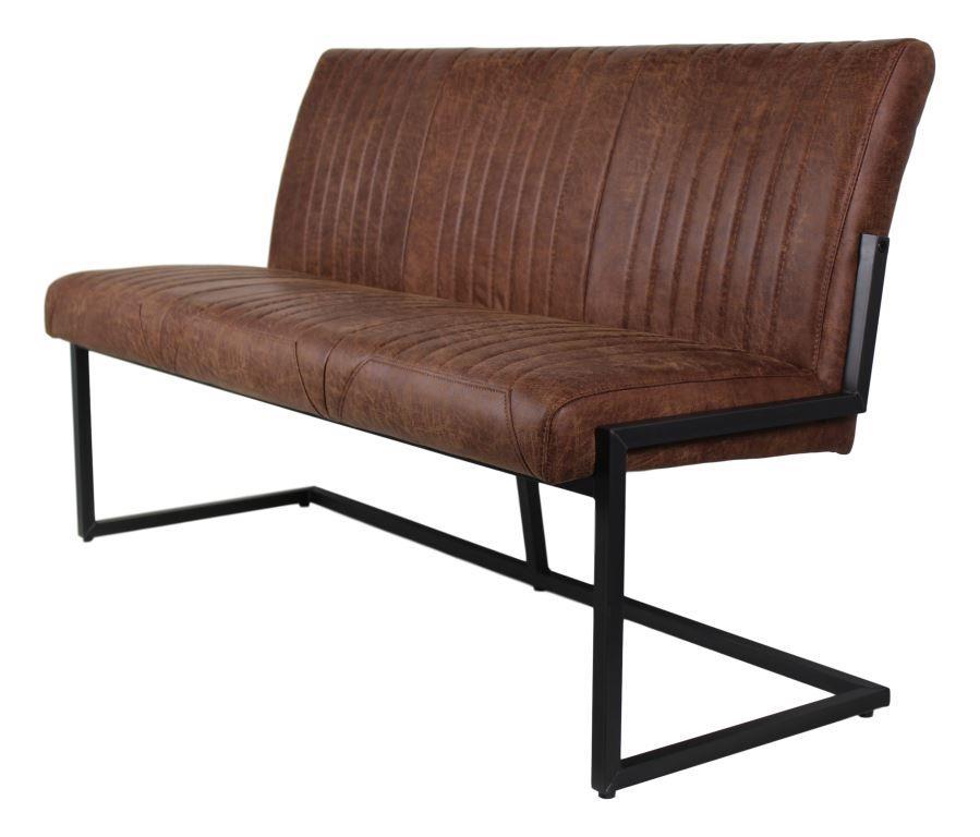 esstischbank texas yacht cognac metall yachtleder st hlen sofas henk schram meubelen. Black Bedroom Furniture Sets. Home Design Ideas