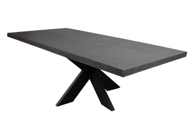 Tafelblad Sonora - 240x100 cm - grijs beton