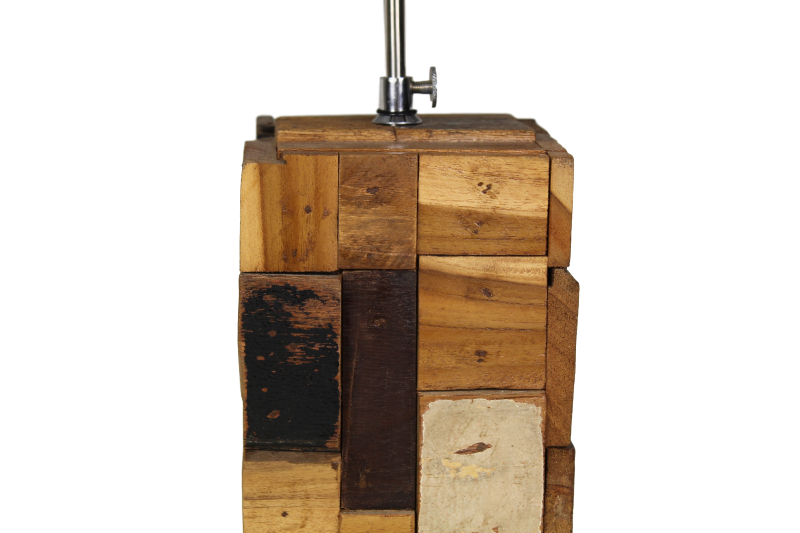 Tischlampe Boat Holz Weiss Natur Mix Holz Beleuchtung Henk