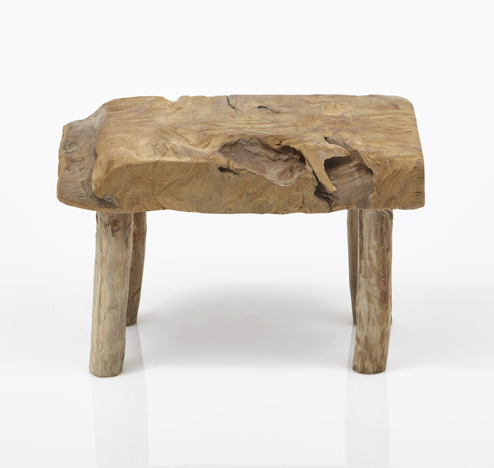 Swell Rustic Low Stool Natural Teak Small Furniture Pieces Caraccident5 Cool Chair Designs And Ideas Caraccident5Info