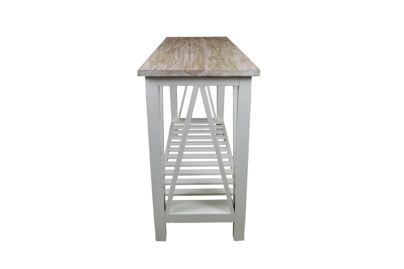 Sidetable oldwhite top white wash   mindi hout/maho   producten ...